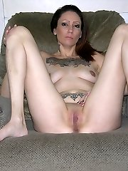Amateur Tattooed Biker Nymph Modeling Naked - Sinn Model