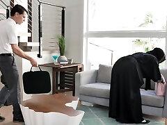 Torrid big boobed hijab MILFie housewife Kylie Kingston is fucked doggy well