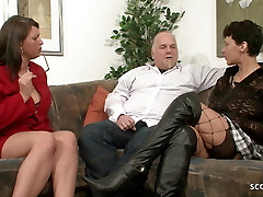 MILF Neigbour Help Older Couple for Good Sex and Join German