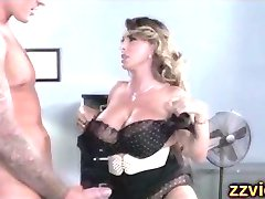 Busty MILF Holly Halston office fuck