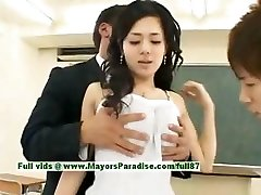 Sora Aoi innocent cool chinese student is getting pummeled in the classroom
