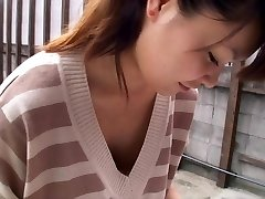Chinese sweetheart gives us a full downblouse view of her tiny tits