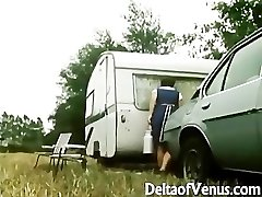 Retro Pornography 1970s - Hairy Brunette - Camper Coupling