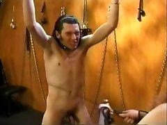 Vintage Femdom Olivia Outre with Masculine Slave
