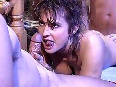 Victoria Paris in 80's porno fuck-fest