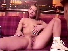 Anna Marek - Blondie teenager from Poland dildo