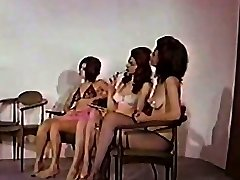 Erotic dancers are having fun at the shooting stage. They