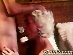 Retro Grey Haired Granny Gives Sensual Suck and Funbag Job
