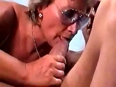 German Granny Humps And Sucks Her Guy