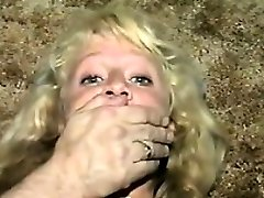 Cute Blonde Slave Duct Taped Old School