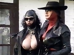 Kinky latex mistresses study pussy of one plum chick outdoor