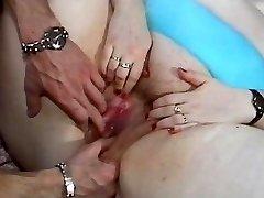 Plus-size bitch fucked in a retro porn movie