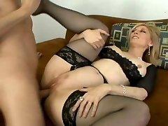Old School Nina Hartley gets butt fucked