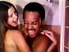 Vintage Interracial Couple Shower Intercourse