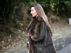 exhibitionist: nude under luxe fur glaze & vintage garterbelt