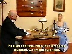 Bald tutor spanked lady