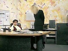 Incredible amateur Office, Stockings sex tweak