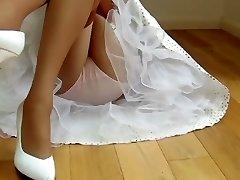 Nylon layers cotton undies