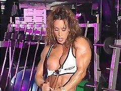 최고의 수제 페티쉬,근육의 여성노 장면