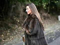 exhibitionist: bare under luxe fur coat & vintage garterbelt
