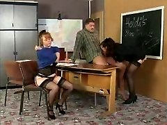 History Teacher Instructs Her Students On Orgy