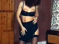 Vintage mature stockings striptease dance