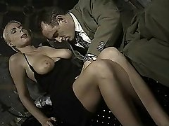 Italian babe does ass-to-jaws in this antique clip