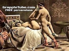 Vintage retro classical hardcore fuckin' and oral hardcore sex perversions