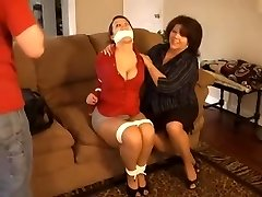 step mother and step son punish tutor