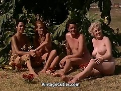 Naked Gals Having Fun at a Nudist Resort (1960s Vintage)