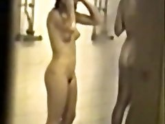 Classic hidden school shower tape with hot femmes - enhanced quality & slowmo