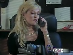 Horny adult movie star in exotic blonde, vintage fuck-a-thon clip
