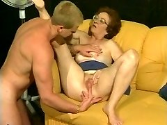 Retro granny gets hot dicking from muscled boy