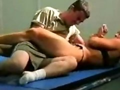 mixed grappling fbb Christine Fetzer bodybuilder scissors part 2