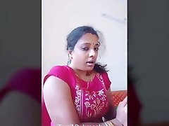 Dubmash Tamil by Tamil Aunty with showing jugs