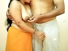 Big Fun Bags Indian Girl Sucking Boyfriends Nip, Giving Hand Job, Boob Fuck