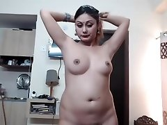 Desi Indian Girl Show Orbs On Webcam