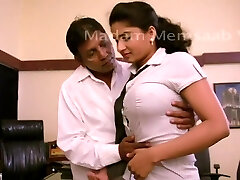Desi School Female Romancing With Professor For Promotion - Big Boob Pressed Bgrade