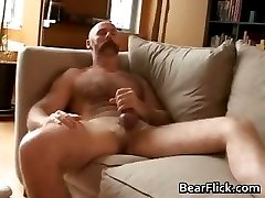 Gay bear Brett Logan jerking his wanger part5