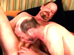 Hairy gaystraight mature gets a facial