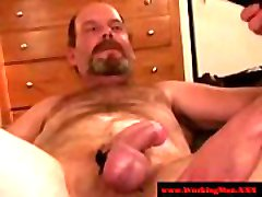 Straight mature bears kinky anal play