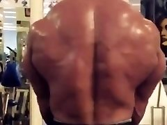 Huge Muscle Beast Bodybuilder training