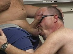 Office bum bandits sucking cock