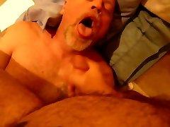 Feeding daddy bear