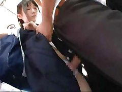 Japanese schoolgirl gets poked and prodded before she fucks