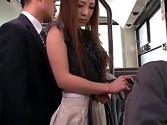 Insane Japanese girl Minori Hatsune in Incredible Outdoor, Upskirts/Panchira JAV movie