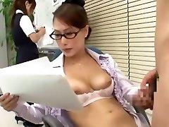 Incredible Asian damsel Yayoi Yanagida in Best Office, Doggy Style JAV scene