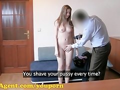 FakeAgent HD Handsome first-timer gets her first creampie