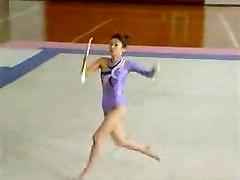 Asian Bare Gymnast