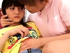 Subtitled Japanese all girl nurse with aroused patient